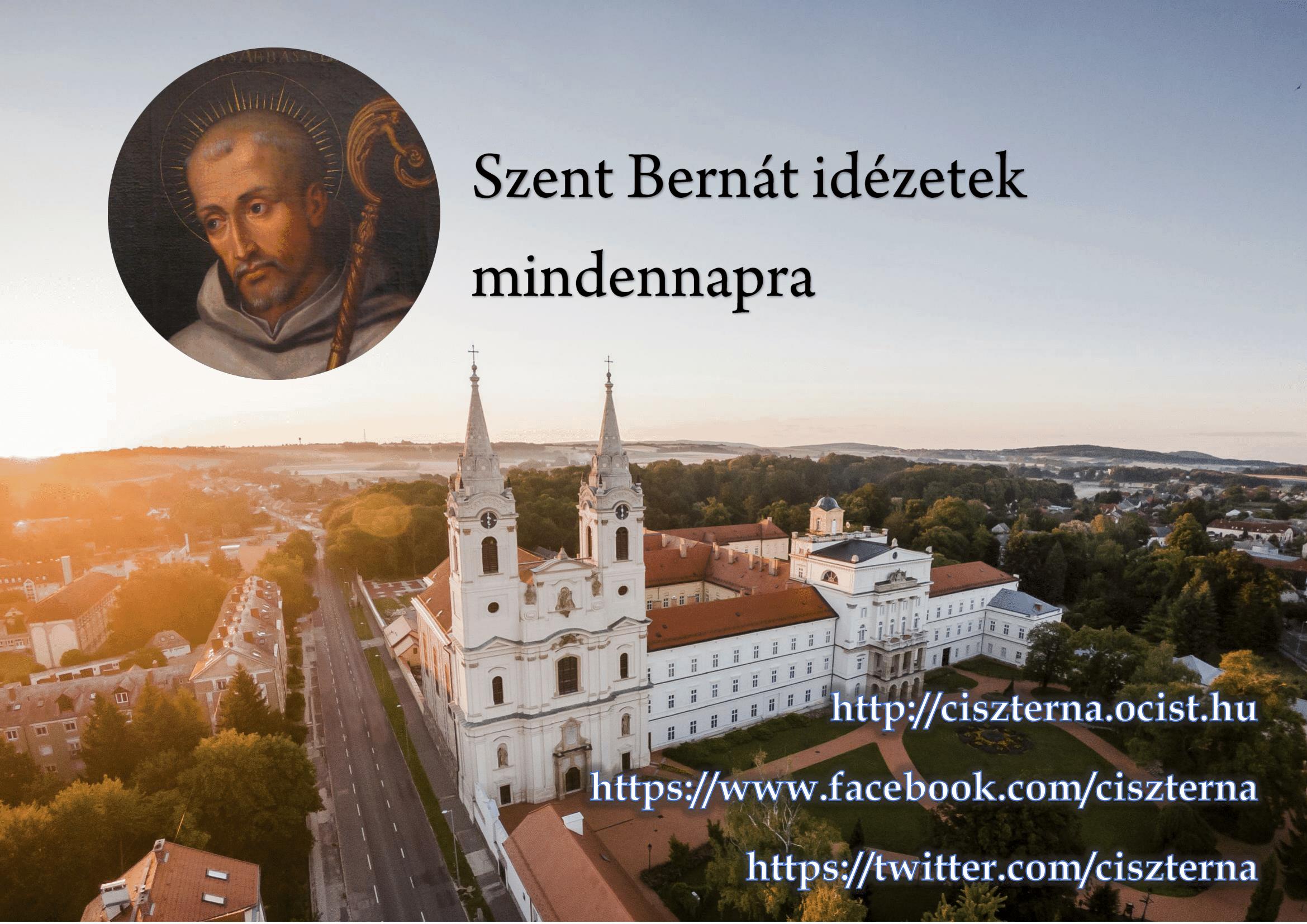 Szent Bernát idézetek mindennapra